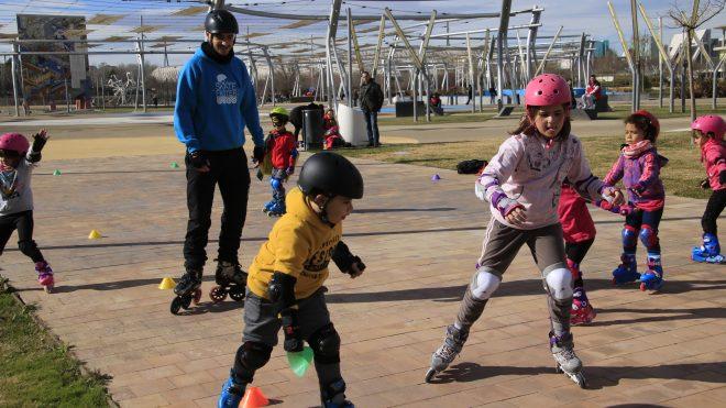 Curso de patinaje en Julio