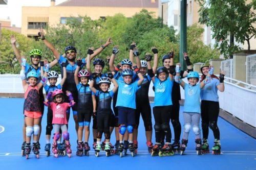 Curso de patinaje de velocidad para niños en Zaragoza con escuela Skatefaster
