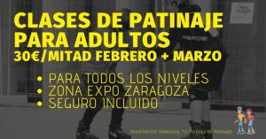 Clases de patinaje para adultos en Zaragoza Febrero 2020 SkateFaster