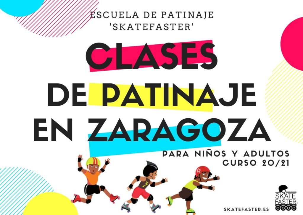 Clases de patinaje en Zaragoza por 20€. Cursos en todos los barrios de Zaragoza.