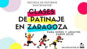 clases patinaje zaragoza 20€ curso 2020 skatefaster