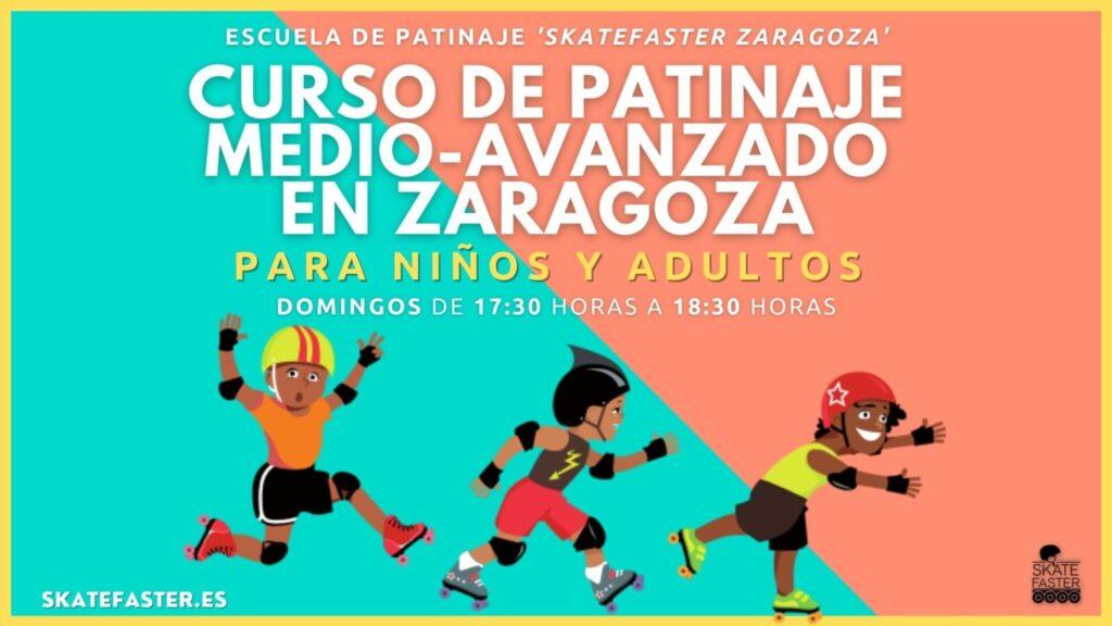 Curso de patinaje medio y avanzado para niños y adultos en zaragoza escuela de patinaje skatefaster